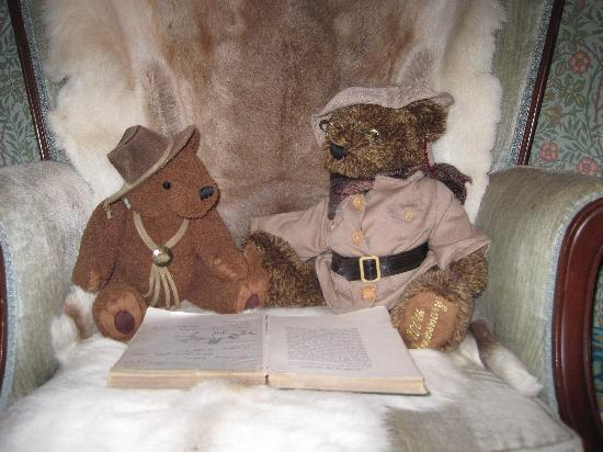 Bellows Falls, Βερμόντ: just two teddy bears bonding over fairy tales