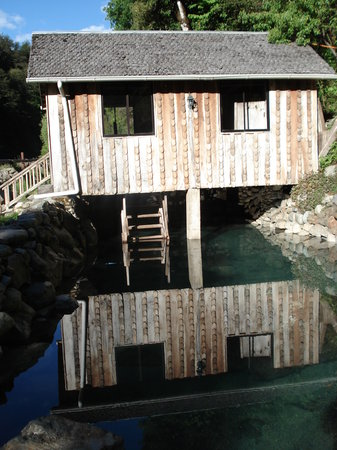 Pucón, Chile: Descend from a changing room right into a pool if you'd like
