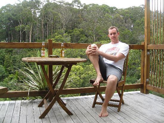 Stone Store Lodge Accommodation: Balcony overlooking native rainforest