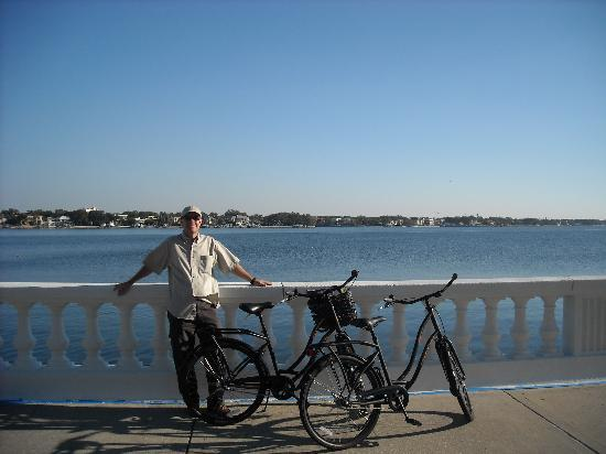 City Bike Tampa: On Bayshore, Davis Island in background
