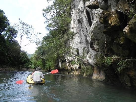 Khao Sok Las Orquideas Resort: Canoeing down the river