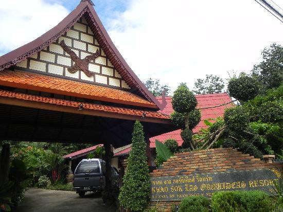 Khao Sok Las Orquideas Resort: the entrance