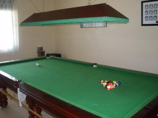 Melba Lodge : billards/darts/bar room