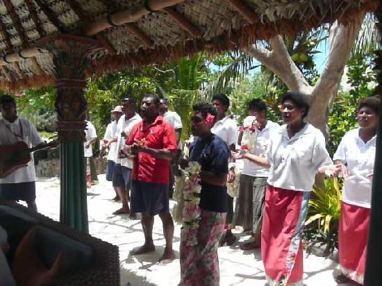Navutu Stars Fiji Hotel & Resort: Unsere Verabschiedung