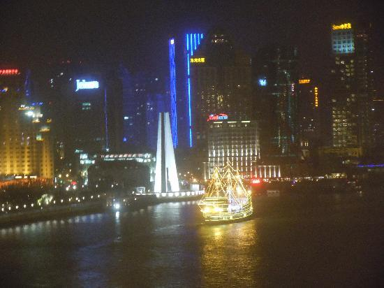 Les Suites Orient, Bund Shanghai : Night time view from room