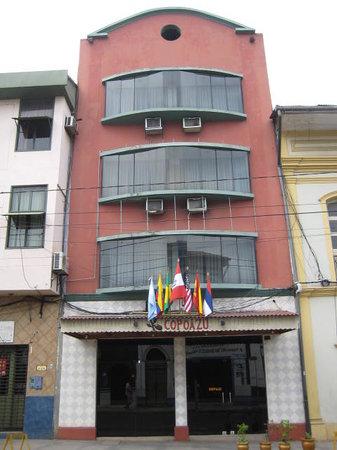 Front view of Hotel Copoazu