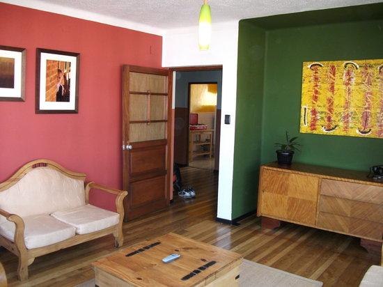 A la Maison: sitting area - upstairs apartment