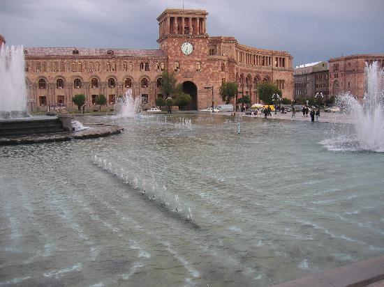 يريفان, أرمينيا: Großer Platz in Yerevan