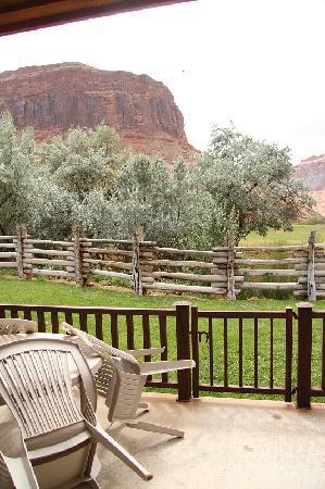 Red Cliffs Lodge : vue de la terrasse