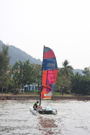 Sailing With Knai Bang Chatt in Background