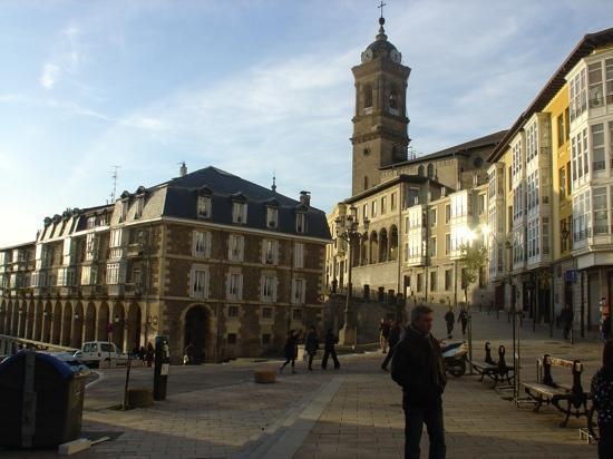 Vitoria-Gasteiz, Spanien: sol de diciembre