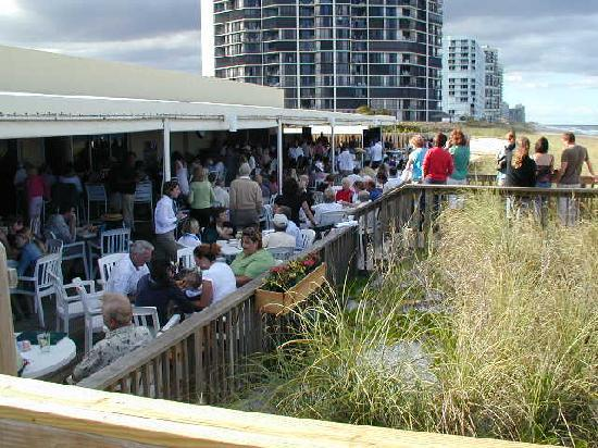 Shucker's: The Tiki Bar is a favorite place to relax.