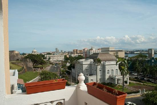 Posada San Francisco Old San Juan: East view from the balcony of Fort de Cristobal.