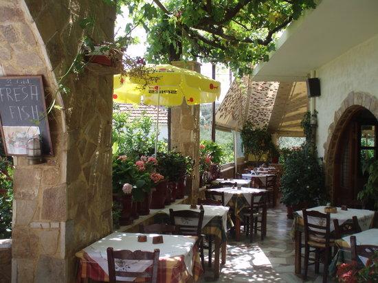 Manolis Taverna Restaurant: TAVERNA MANOLIS PANO AGIA MARINA