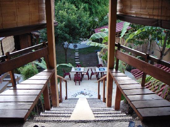 Serenity Yoga: stairs to the yogashala