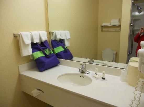 Fairfield Inn & Suites Cherokee: Bathroom was very clean.