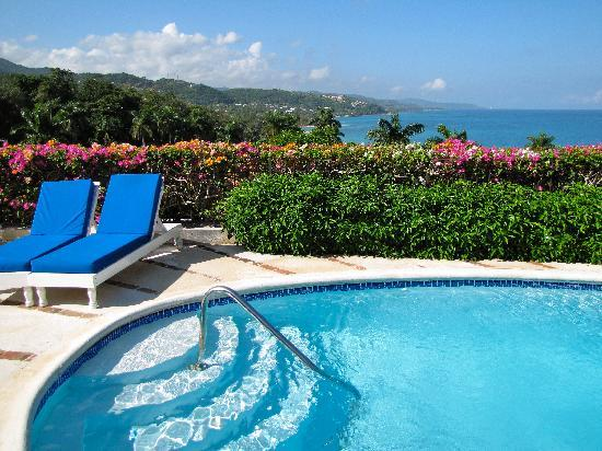 Round Hill Hotel & Villas: View from the private pool