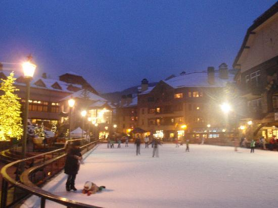 Poste Montane At Beaver Creek: Ice rink outside Poste Montane