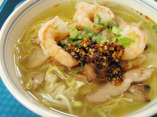 Golden Rice Bowl: won ton noodle soup