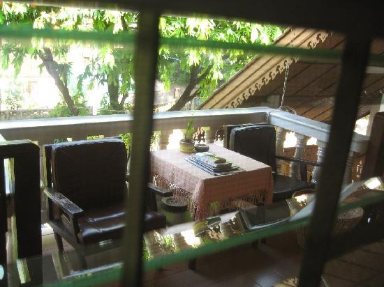 Galare Guest House: sitting area outside my room
