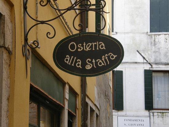 Osteria Alla Staffa: l'enseigne