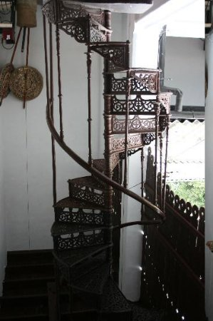 The Mansion: The Old Wrought Iron Spiral Staircase