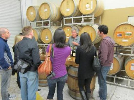 Chris Loxton, the winemaker, pours the tastes himself.