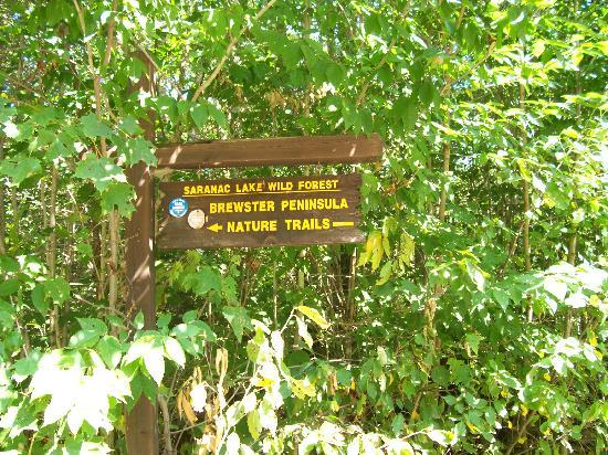 Brewster Peninsula Nature Trails: Trail sign