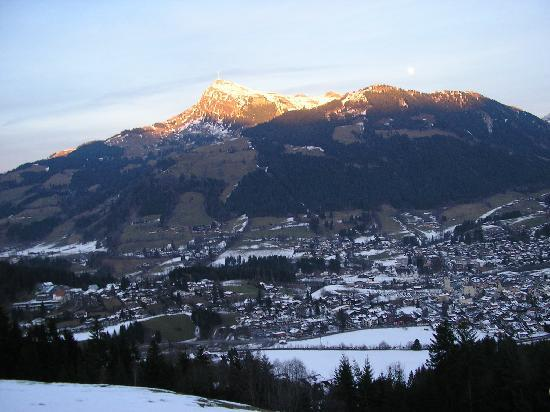 Kitzbuhel, Austria: the mounting ski