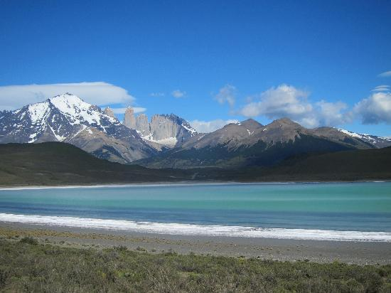 Torres del Paine National Park, Chile: First view of Torres del Paine