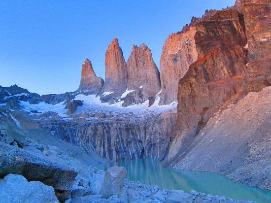 Torres del Paine National Park, Chile: dawn at Mirador Los Torres