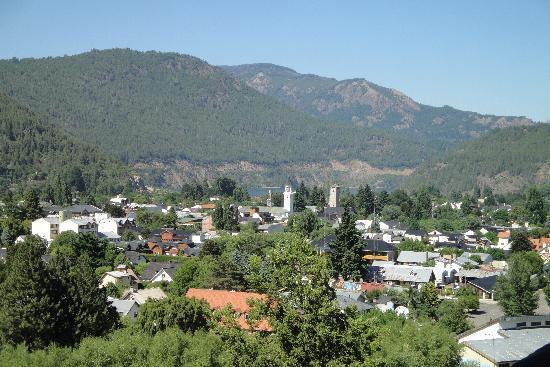 Altos del Alma: Vista de la ciudad desde el living de una de las cabañas
