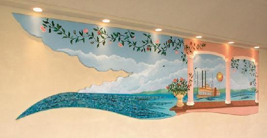 Hotel Missouri: Mosaico del portico d'ingresso