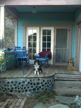 The Sleepy Dog Guest House: Murph liked the back proch