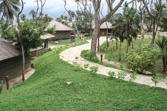 Media Luna Resort & Spa: walkway to our cabana