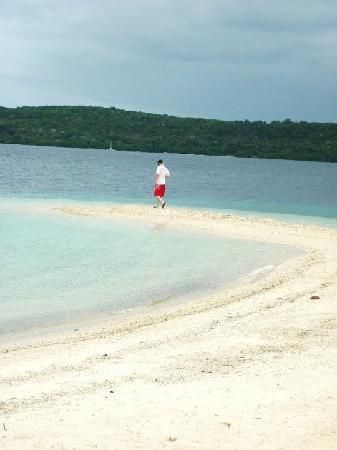 The Havannah, Vanuatu: my husband enjoying a walk