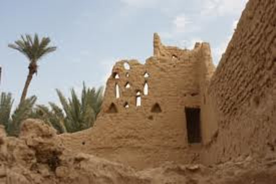 Diryah, Arabia Saudita: View of the old buildings at ad-Dir'iyah