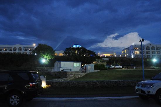 Thunderbird Resorts & Casinos - Poro Point: night view from the beach area