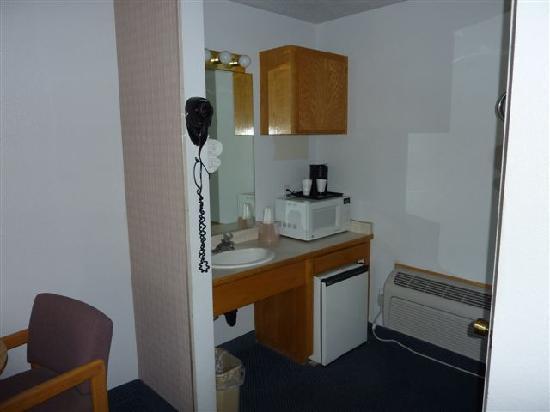 Rodeway Inn: petit frigo, ça c'est sympa surtout quand il fait chaud!