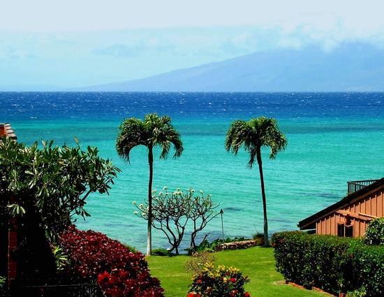 The Kuleana Resort : Kuleana 309 view from lanai and living room.