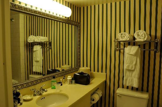 Wingate by Wyndham Tampa/At USF: salle de bain et toilettes, shampoing, savon, lait de toilette renouvelés tous les jours