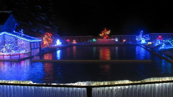 Takhini Hot Springs: Lights of Ice during wintertime