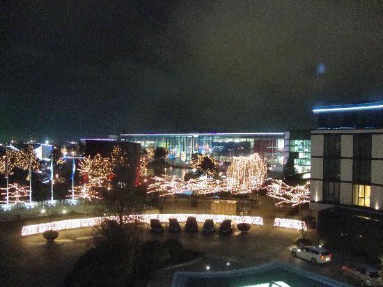 The Ritz-Carlton, Wolfsburg: nighttime view over AutoStadt