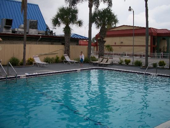 Super 8 Clearwater/US Hwy 19 N: My Son and I enjoying the Super 8 Swimming Pool