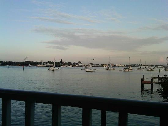 Matanzas on the Bay: Dinner view from Matanzas Inn