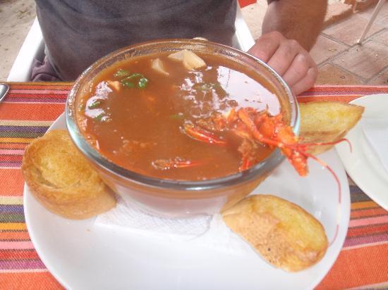Restaurant La Glorieta de Enrique: Seafood soup