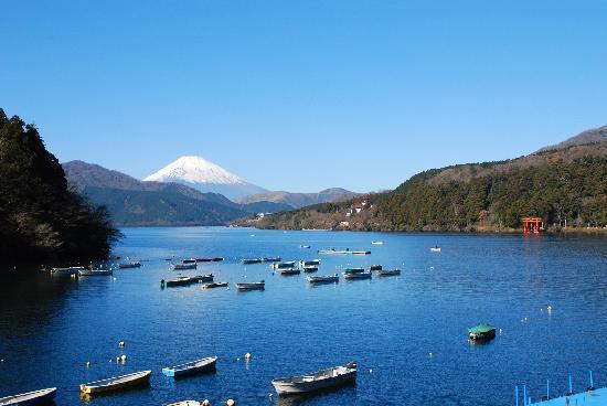 Onshi Hakone Park: 芦ノ湖と富士山