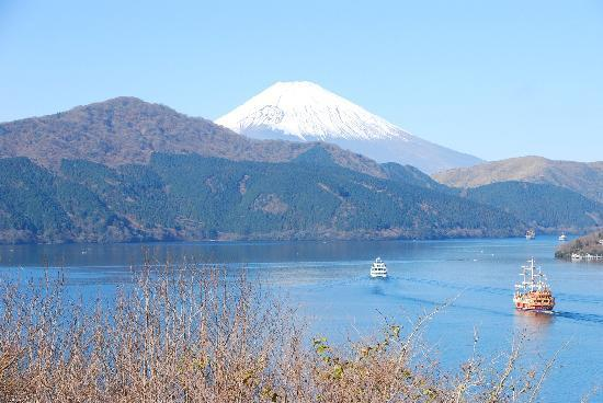 Onshi Hakone Park: 塔の鼻からの景色