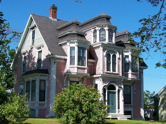 Lunenburg Canada Pink Victorian House