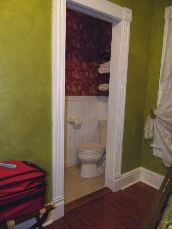 Back Inn Time: Door to the bathroom